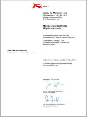 Certificate of IMS representative in Iran