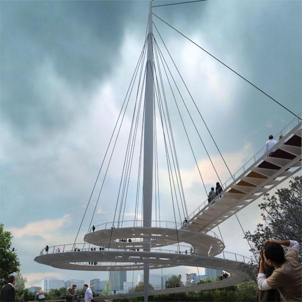 Haghani Pedestrian Bridge Diba Tensile Structures