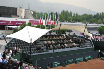 "The VIP Area of ""Opt"" Club Tennis Court"