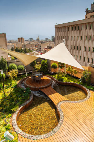 "Roof Garden in ""Zafar"" Building"