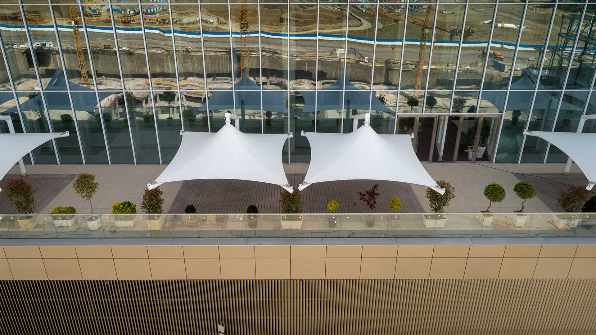 Membrane Canopies Of Iran Mall Diba Group
